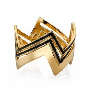 House of Harlow 1960 14KT Gold Three Stack Bangles